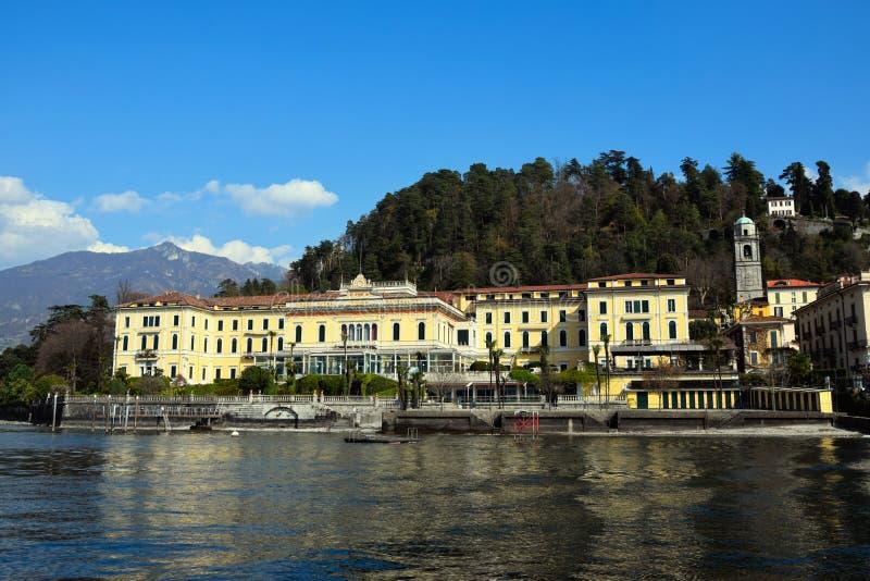 BELLAGIO, COMO, LOMBARDY, ITALY - MARCH 29, 2016: Grand Hotel Villa Serbelloni, located in Bellagio, Lake Como. royalty free stock photo