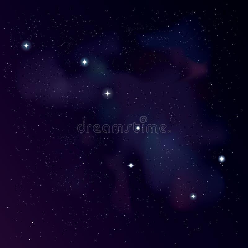 Grand huit la constellation de grand ours illustration stock