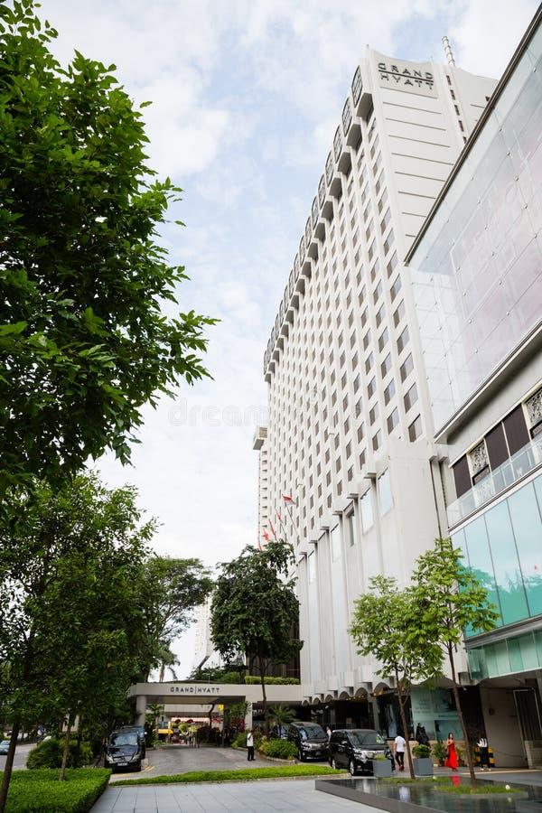 Grand Hyatt em Singapura fotografia de stock