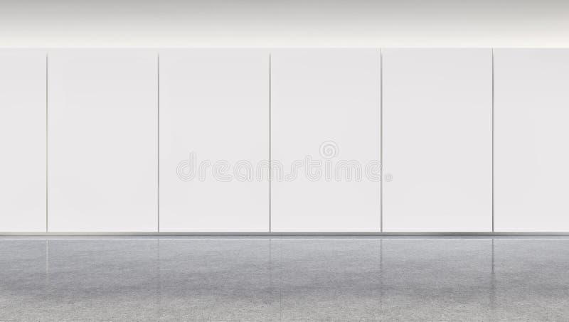 Grand illus lumineux moderne de luxe de salon d'appartement d'intérieurs photographie stock