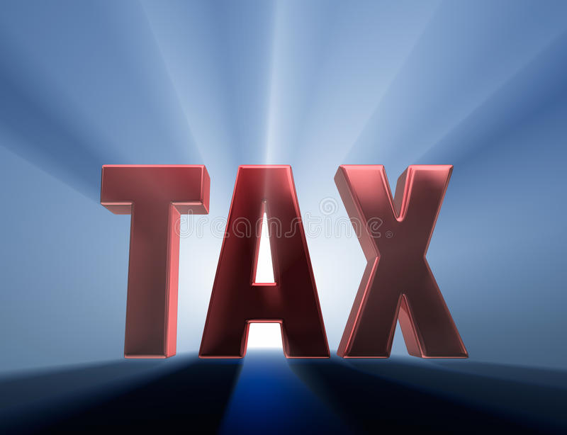 Grand impôt illustration stock