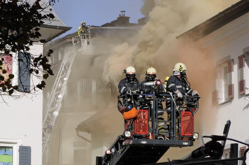 Grand incendie images libres de droits