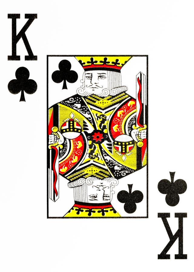 Grand index jouant le roi de trèfle de carte illustration de vecteur