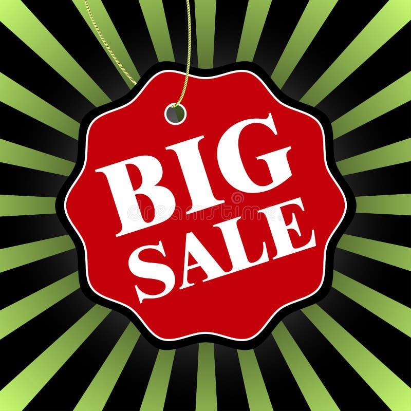 Grand insigne noir de vente de vendredi Illustration de vecteur illustration libre de droits