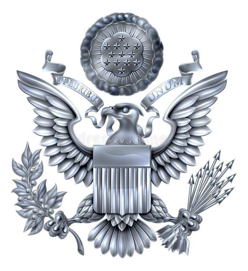 Grand joint de l'argent des Etats-Unis illustration de vecteur