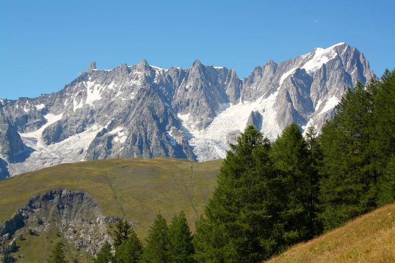 Download Grand Jorasses And Giant Tooth, Mont Blanc Stock Photo - Image: 12473374