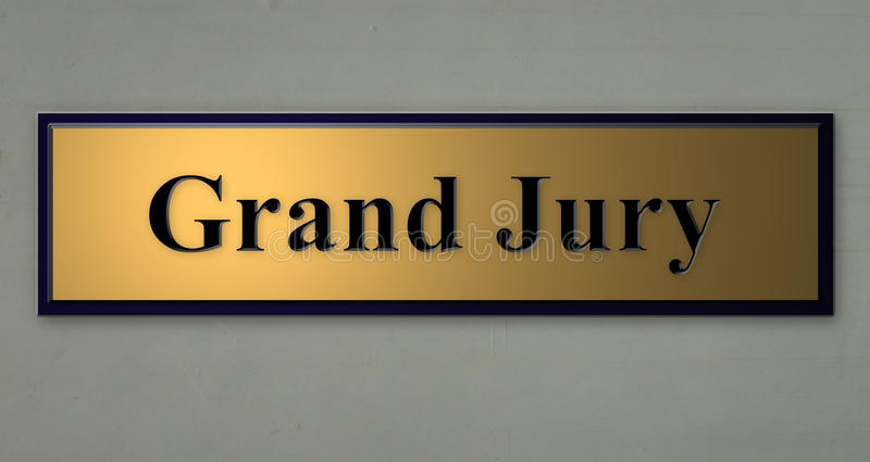 GRAND JURY sign. A 3d rendition of a sign for GRAND JURY stock illustration