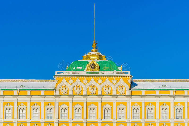 Grand Kremlin palace details in the winter day royalty free stock photos