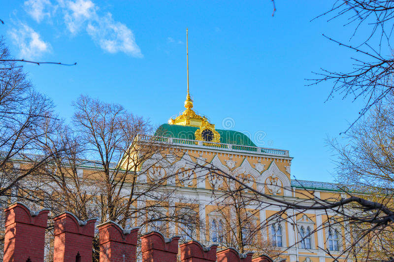 Grand Kremlin Palace in Moscow, Russia stock photos