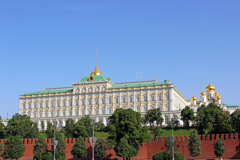 Grand Kremlin Palace in Moscow royalty free stock photo
