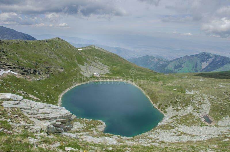 Grand lac - parc national de Pelister, Macédoine image stock