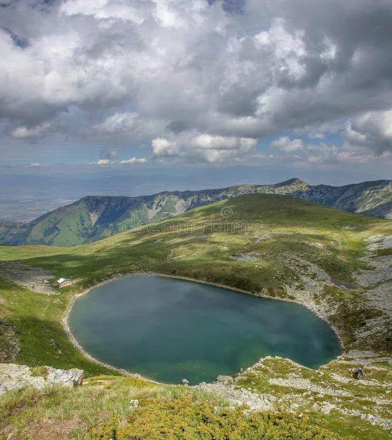 Grand lac - parc national de Pelister, Macédoine photo libre de droits