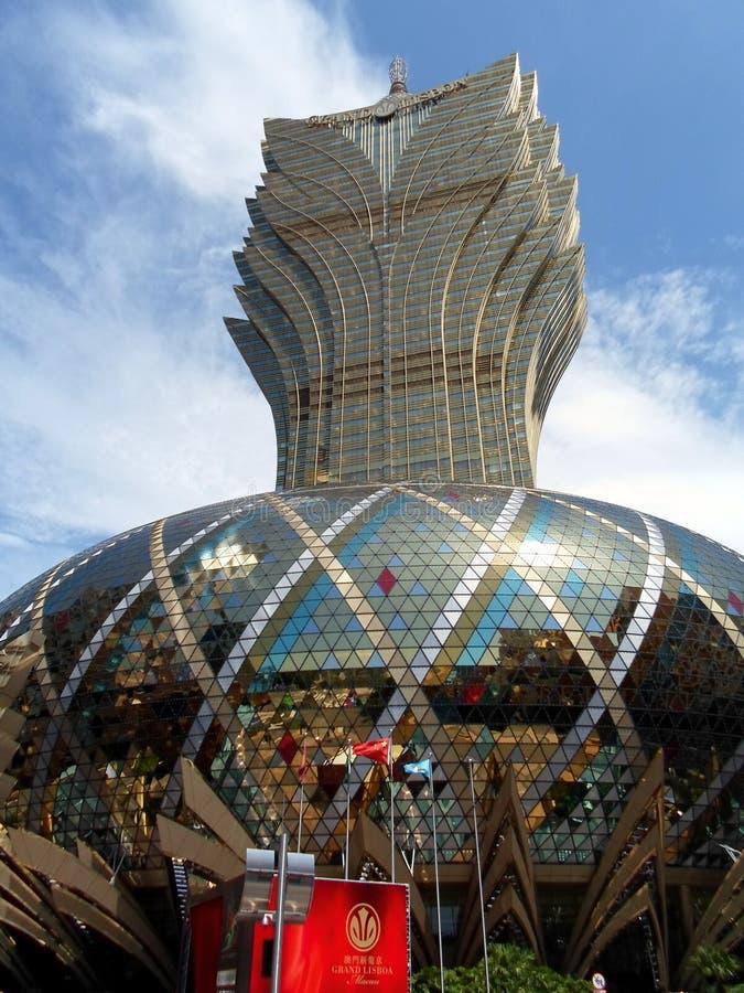 The Grand Lisboa, Macao - A Pineapple/Lotus Leaf Shaped Hotel stock images