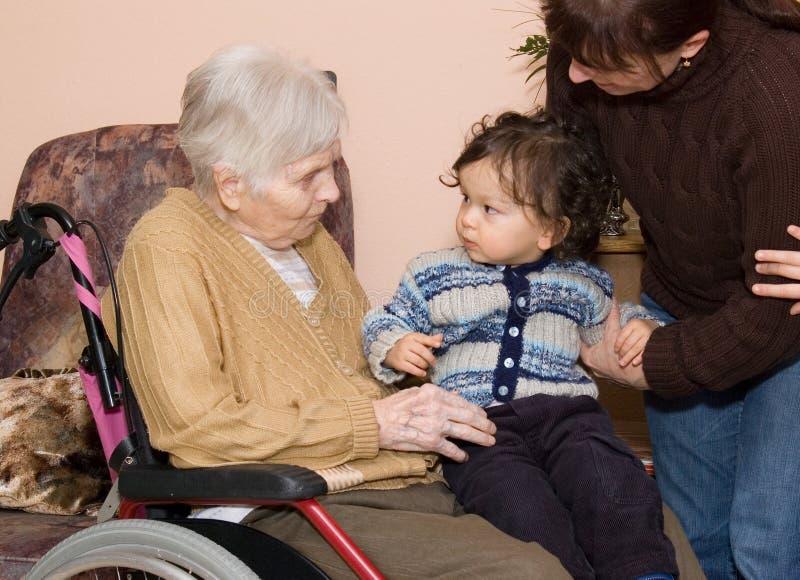 Grand-mère de Creat. photographie stock libre de droits