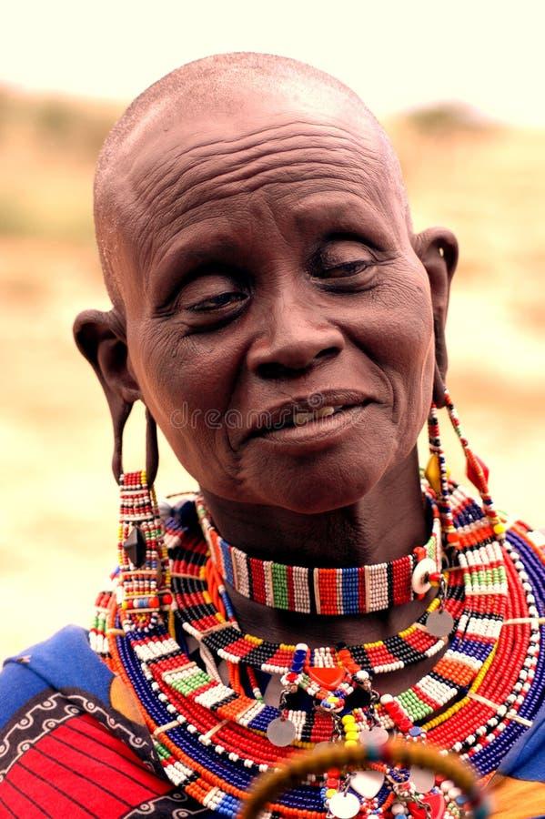 Grand-mère de masai photographie stock