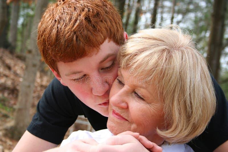 Grand-mère et fils photo libre de droits