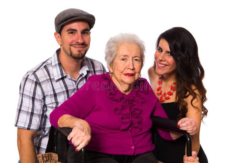 Grand-mère et petits-enfants photo libre de droits