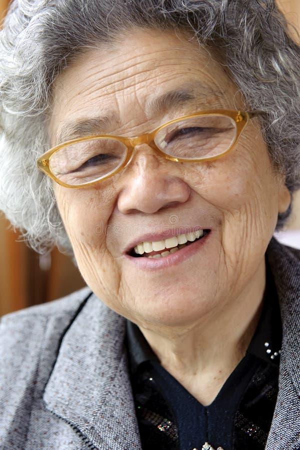 Grand-mère heureux images libres de droits