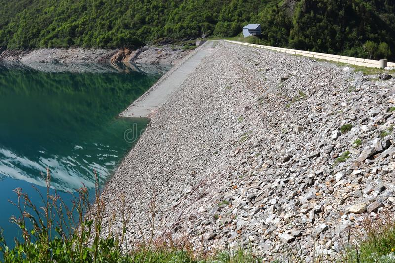 Grand` Maison Dam, Lac de Grand Maison, french Rhone-Alpes stock image
