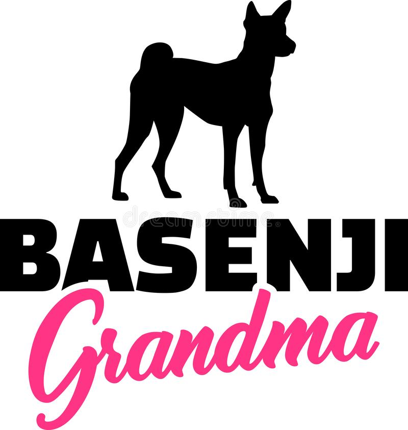 Grand-maman de Basenji avec la silhouette illustration de vecteur