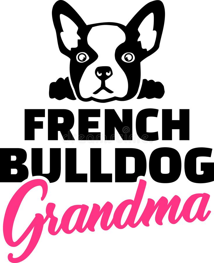 Grand-maman de bouledogue français illustration de vecteur
