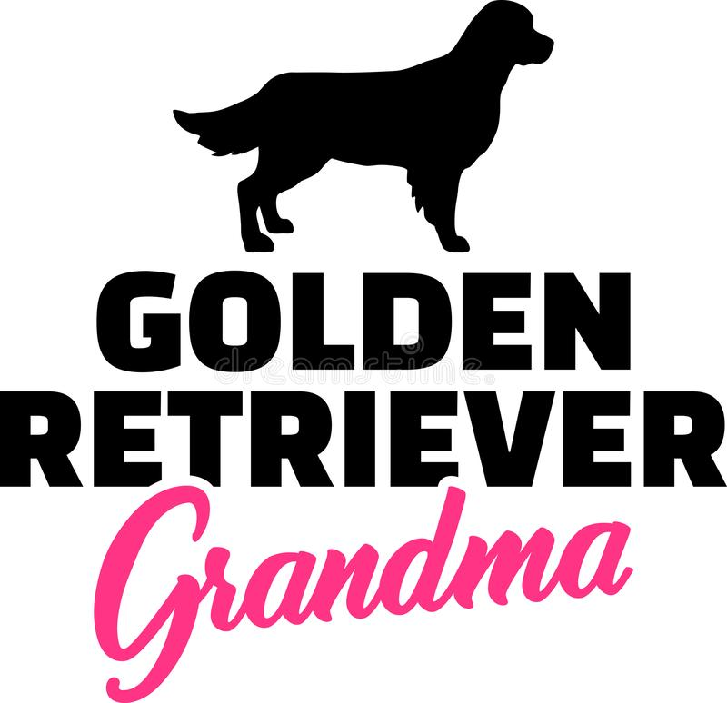 Grand-maman de golden retriever illustration libre de droits