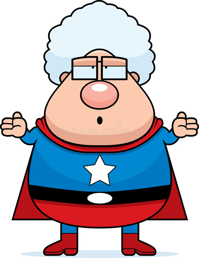 Grand-maman de Superhero confondue illustration stock