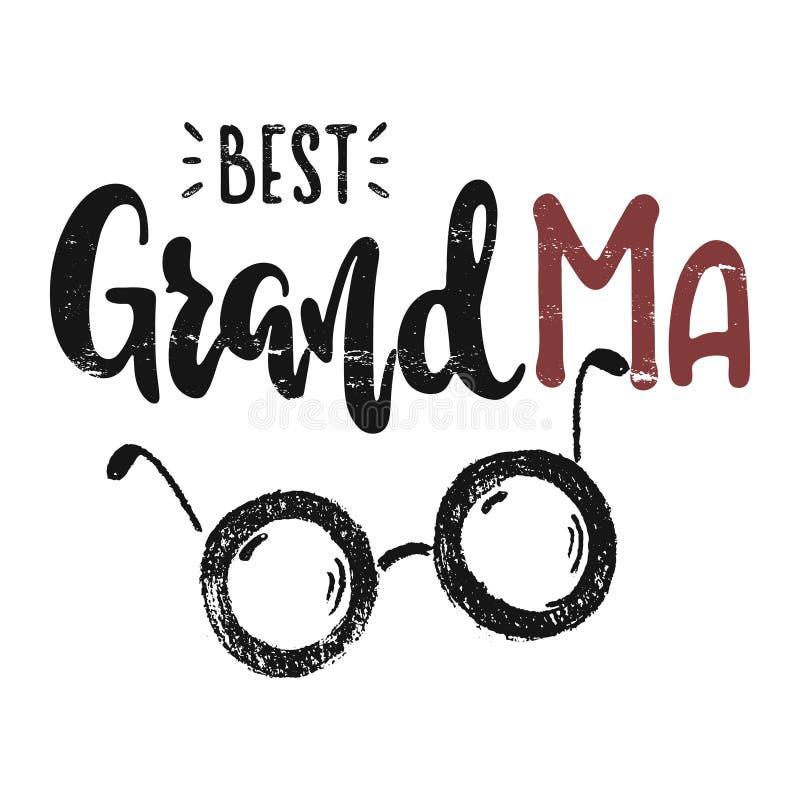 Grand-maman de vecteur meilleure illustration de vecteur