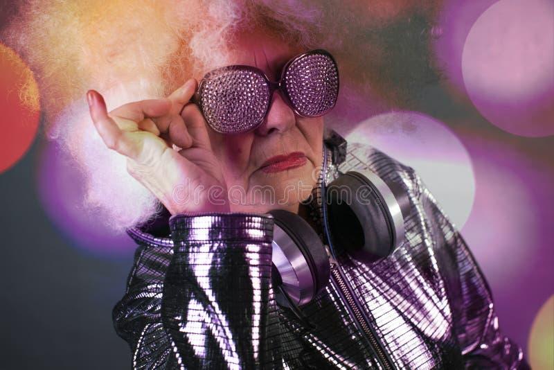 Grand-maman DJ photos stock