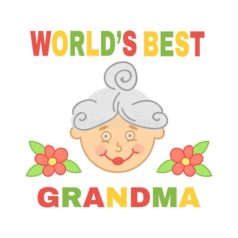 Grand-maman du ` s du monde la meilleure illustration libre de droits