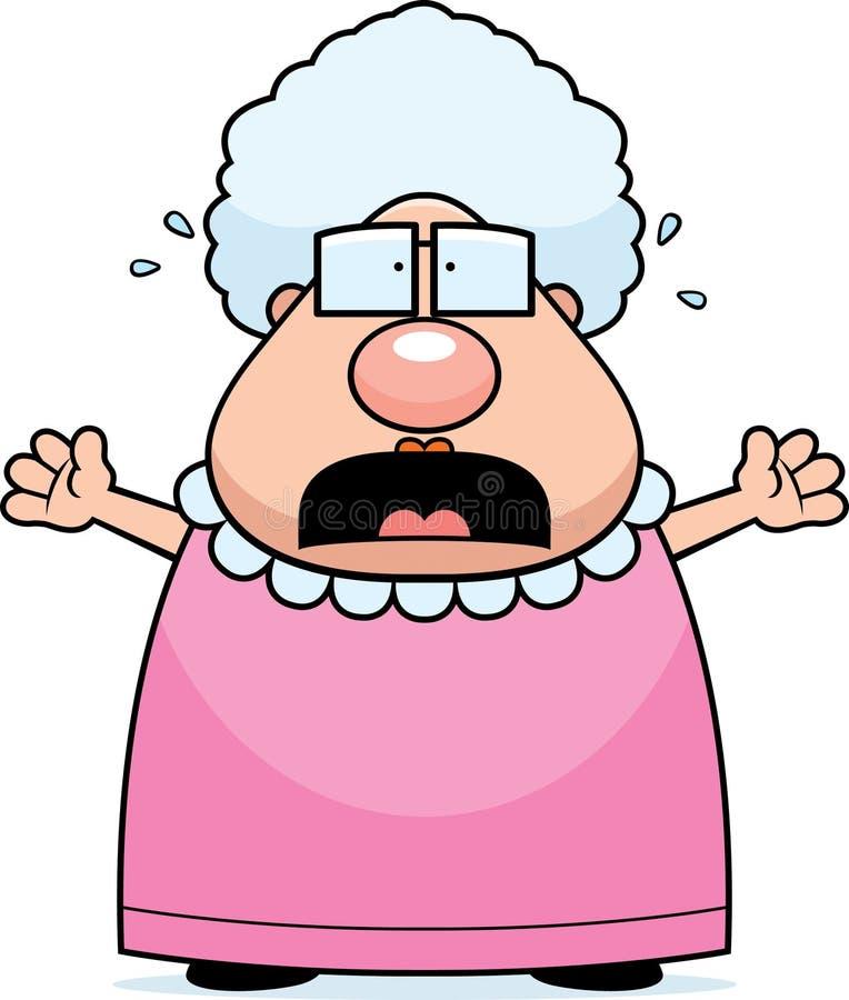 Grand-maman effrayée illustration stock