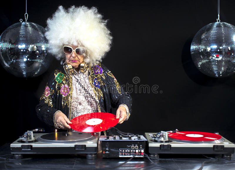 Grand-maman et grand-papa du DJ photo libre de droits