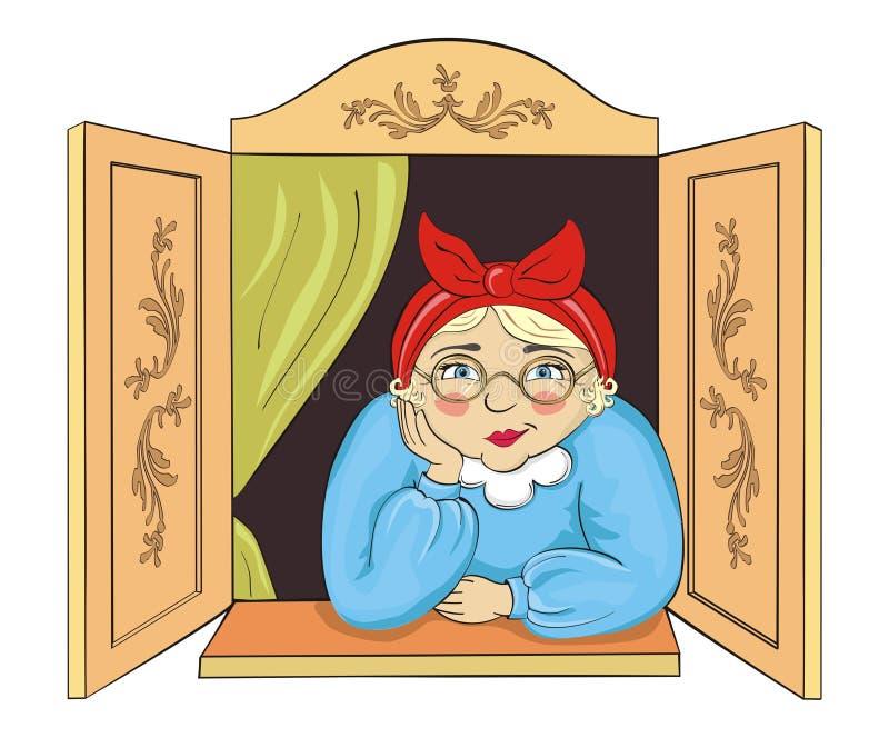 grand-maman mignonne illustration libre de droits