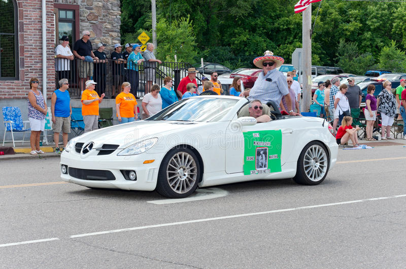 Grand Marshal in Mendota Days Parade stock images