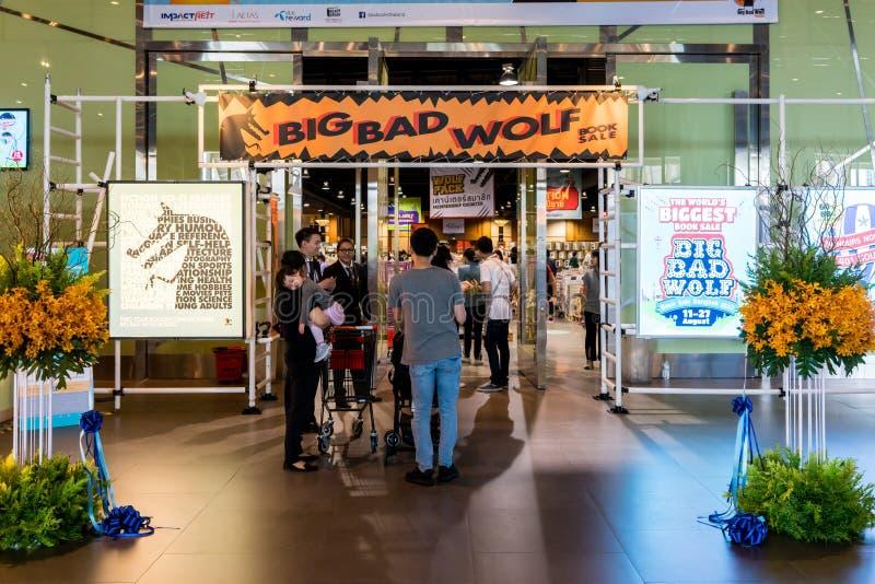 Grand mauvais loup, les plus grandes ventes de livre à Bangkok Thaïlande, le 10 août photographie stock libre de droits