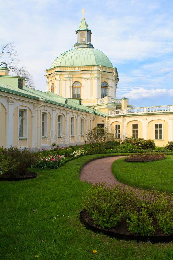 The Grand Menshikov Palace in Oranienbaum stock photography