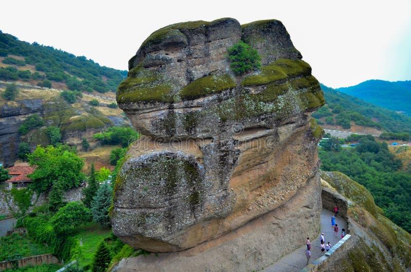 Grand monastère Meteora, Grèce photographie stock