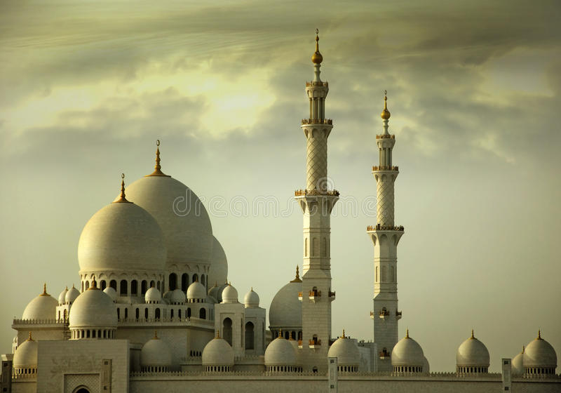 Grand Mosque Abu Dhabi royalty free stock photography