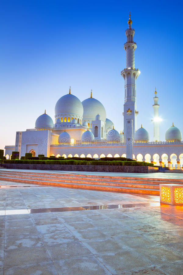 Download Grand Mosque In Abu Dhabi At Night Stock Photo - Image: 40147782