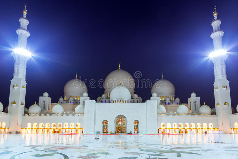Download Grand Mosque In Abu Dhabi At Night Stock Image - Image: 40371713