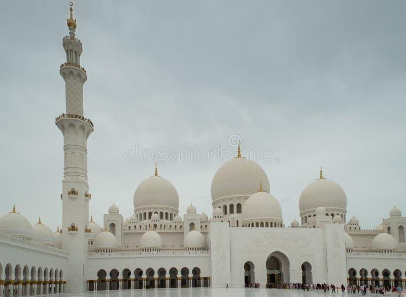 The grand mosque of Abu Dhabi stock photos