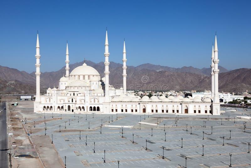Exterior: Grand Mosque In Fujairah, UAE Stock Photo