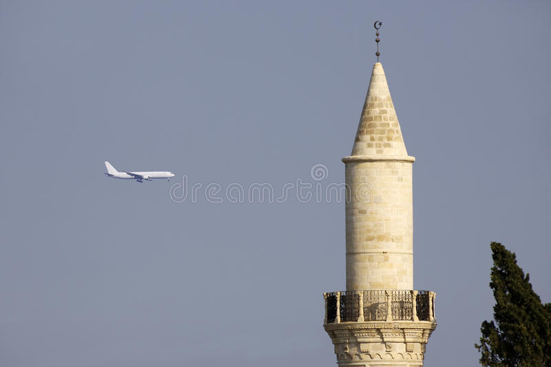 Download Grand Mosque, Larnaca, And Airplane Stock Photo - Image of architecture, historic: 10349822