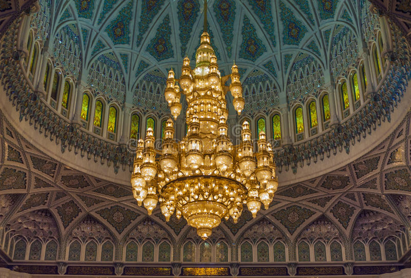 Grand Mosque - Muscat - Oman. Great view Grand Mosque - Muscat - Oman royalty free stock photography