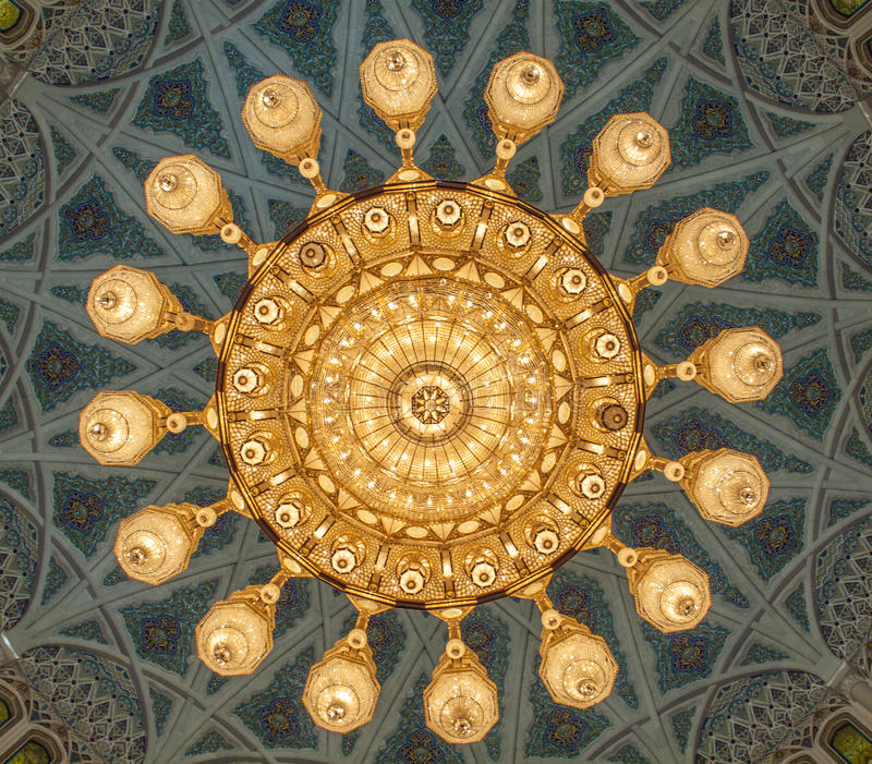 Grand Mosque - Muscat - Oman. Great view Grand Mosque - Muscat - Oman royalty free stock photos