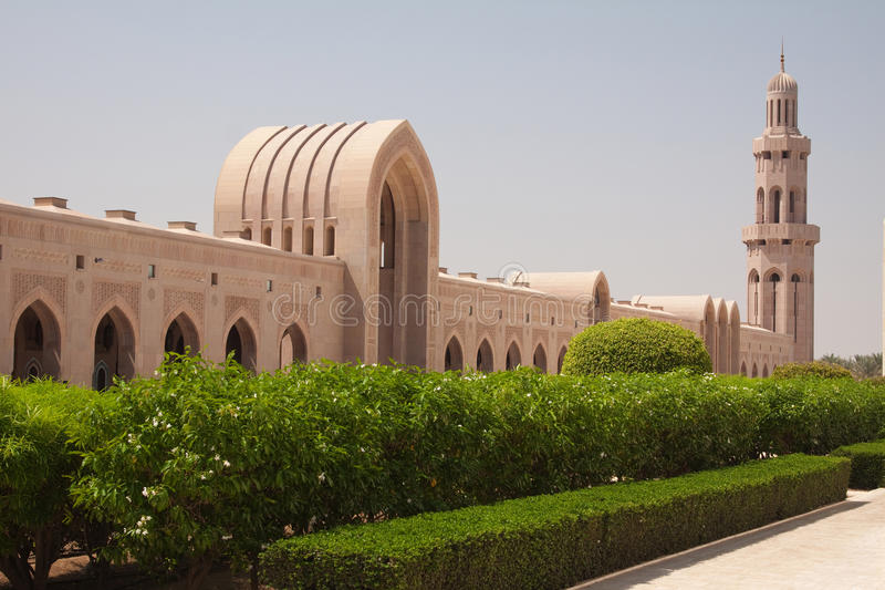 The Grand Mosque, Oman stock image