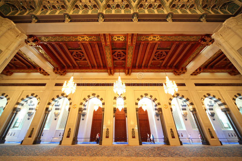 Download Grand Mosque In Oman Luxury Interior With Arches Royalty Free Stock Photography - Image: 15521827