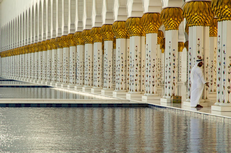 Grand Mosque waters royalty free stock photography
