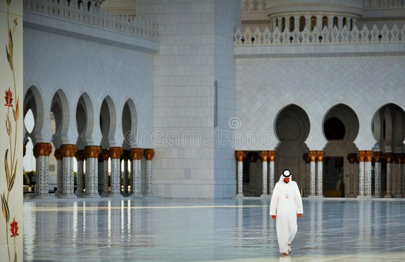 Grand Mosque waters royalty free stock photo