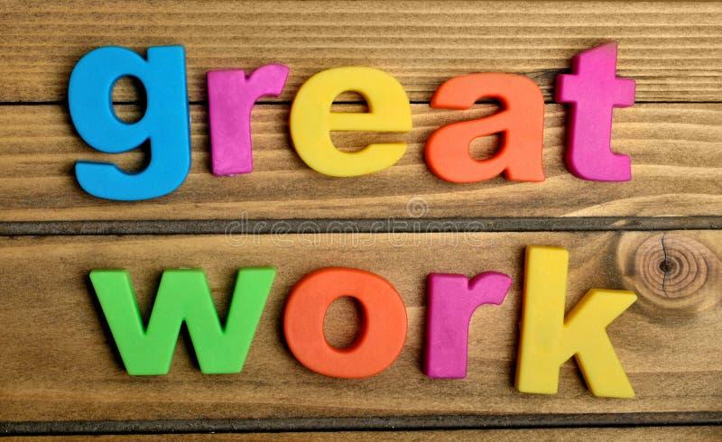 Grand mot de travail image libre de droits